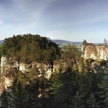 Hruboskalské skalní město - panorama