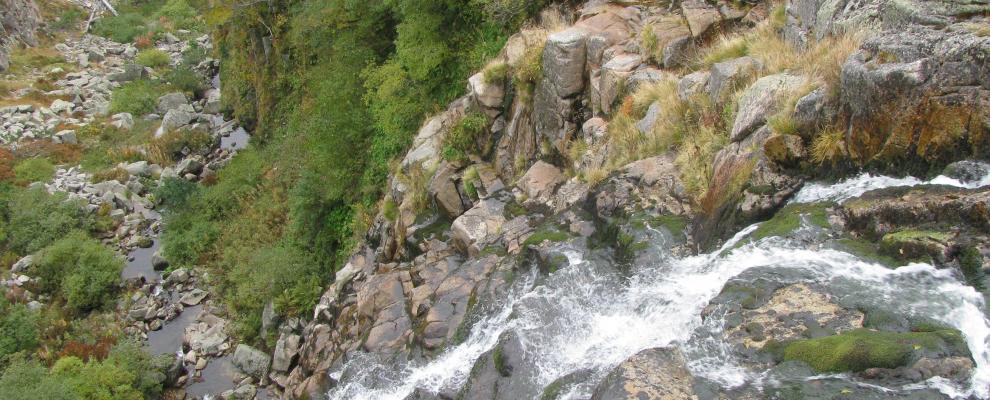 Wasserfall Labský vodopád
