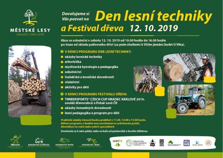 Den lesní techniky 2019 a Festival dřeva