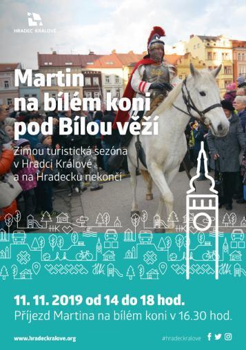 Martin na bílém koni pod Bílou věží