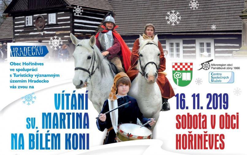 Vítání sv. Martina na bílém koni v Hořiněvsi